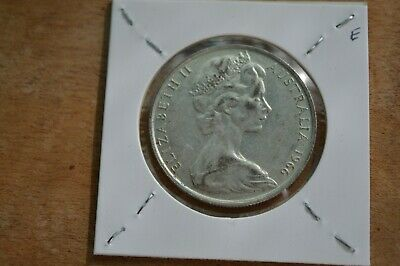 1966 Australian Round 50 Cent Coin - 80% Silver Round Fifty Cent.e