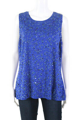 St. John Womens Studded Rhinestone Sleeveless Scoop Neck Blouse Size Extra Large