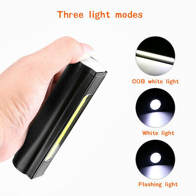 COB LED Aluminum Alloy Rechargeable Camping Fishing Hiking Car Repair Work Light