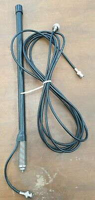 Spring base UHF CB mobile antenna with  4 metre lead and PL259 plug