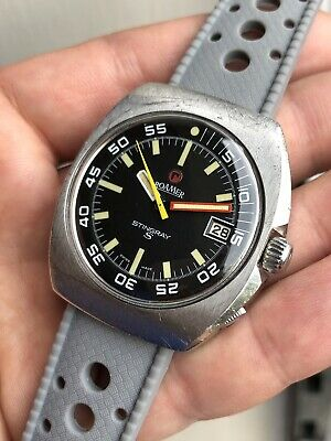 Vintage Roamer Stingray S Mens Diver Watch Swiss Made Automatic