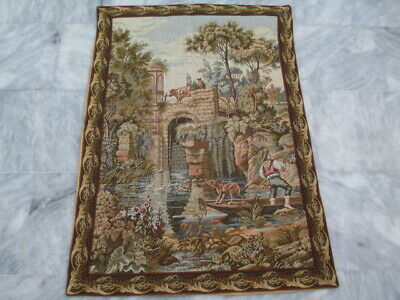 4995 - Old French / Belgium Tapestry Wall Hanging - 102 x 72 cm