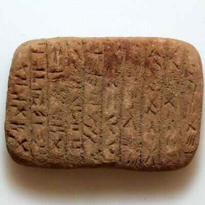 Very Rare Circa 2500-1000 Bc Near East Terracotta Tamplet