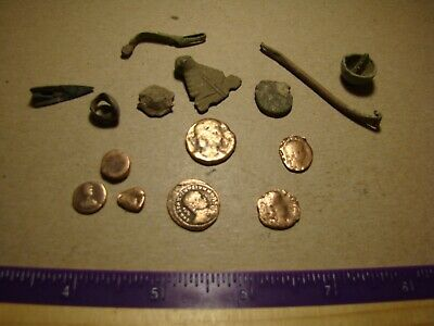 Lot Ancient ROMAN EMPIRE coins relics artifacts !!