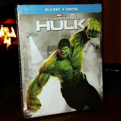 The Incredible Hulk (Blu-ray+Digital, Limited Edition) Steelbook-NEW & SEALED