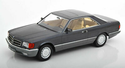 Kk Maßstab 1985 Mercedes Benz 560 Sec C126 Anthrazit Le Of 1000 1/18 Neu!