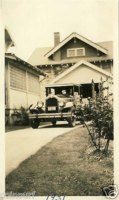 1931 Antique Vintage Original Car Photo 1926-27 Buick Craftsman Style House