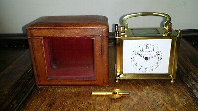 1900 Superb Antique Edwardian 8 Day French / India Square Carriage Clock & Case