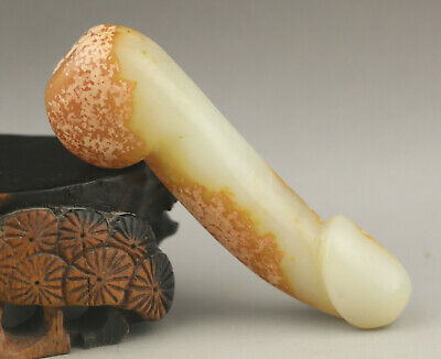 Chinese old natural jade hand-carved dragon pendant