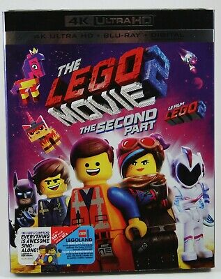 The LEGO Movie 2 The Second Part 4K UHD Bluray Digital BRAND NEW Slipcover