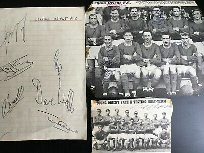 Leyton Orient Football Club Newspaper Cuttings  With  Plenty Of Signatures