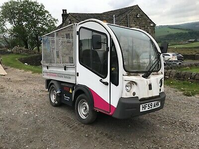 Electric caged tipper van truck pick up