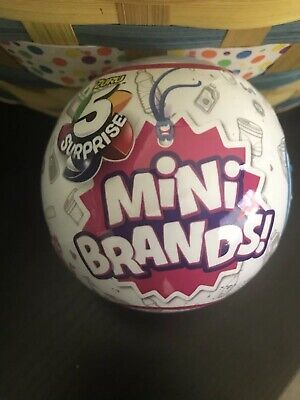 Zuru 5 SURPRISE! MINI BRANDS - 1 BALL - 100% REAL AUTHENTIC - Same Day Shipping