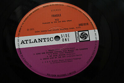 YES Fragile RARER ORIG UK 1971 ATLANTIC PLUM EX+ LP, HARDLY PLAYED, SUPERB SOUND