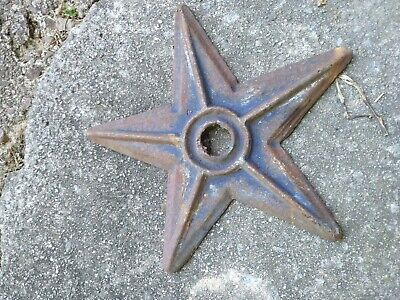 Antique Vtg Star Anchor Plate Lot Architectural Cast Iron Barn