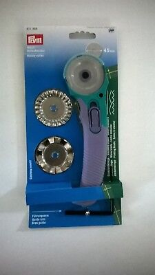 Prym Rotary Cutter with standard, pinking and wave blades - brand new