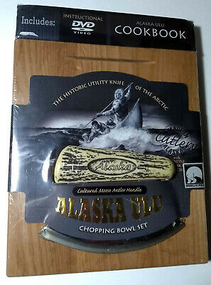Alaska Ulu Chopping Bowl Set, with Cook Book and DVD. New, Unopened