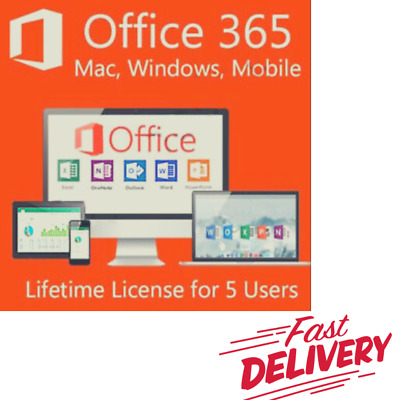 Get Your INSTANT Microsoft Office 365 Pro 2016 2019 L-T🔑 5Users PC /Mac 5TB📨