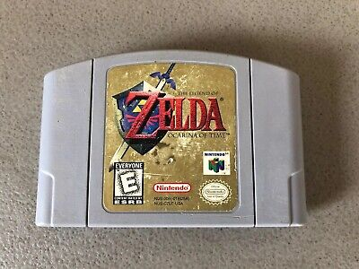 The Legend of Zelda Ocarina of Time Nintendo 64 Authentic Cartridge N64 (Saves)