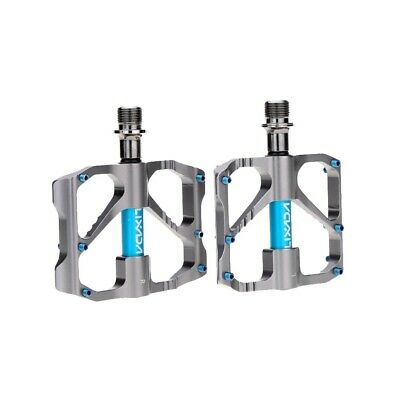 "2Pcs Aluminum Alloy Mountain Bike Sealed Bearing Platform Pedals 9/16"" O3Z5"