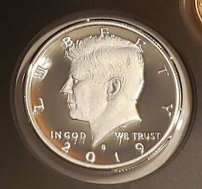 2019 S 99.9% Silver Kennedy Half Dollar Deep Cameo Gem Proof IN STOCK No Reserve