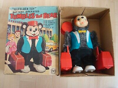 """VERY RARE 60's JAPAN Battery Operated """" Tumbles The Bear """""""