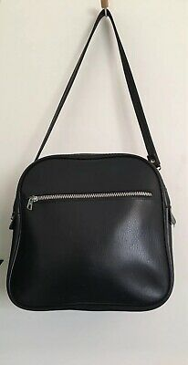 Vintage 60s 70s Black  Shoulder bowling sport bag Original