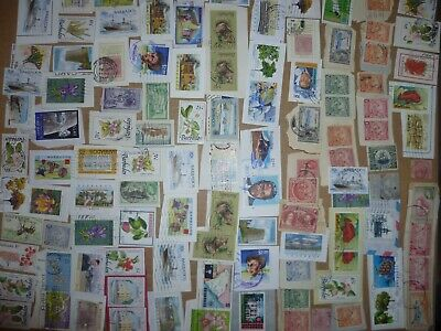 40 grams mixtures Barbados stamps on single paper kiloware
