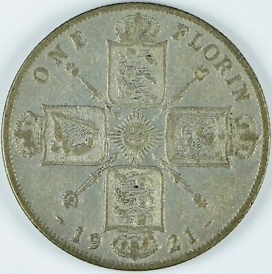 one florin argent 1921 Georges 5