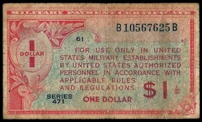 U.S.A. - Military Payment Notes, 1 Dollar (1947), Series 471 (ref. B0362)
