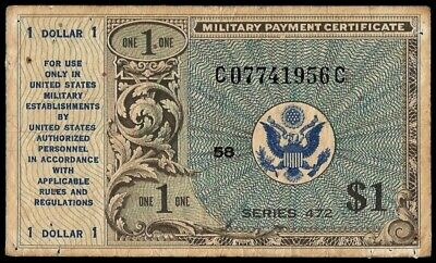 U.S.A. - Military Payment Notes, 1 Dollar (1948), Series 472 (ref. B0365)