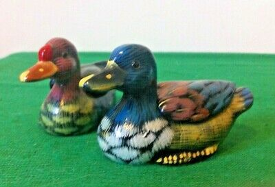 Pair of Lacquered Ducks ~ Trinket Boxes