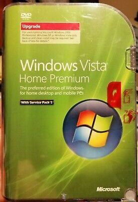 Microsoft Windows Vista Home Premium SP1 Upgrade+Windows 7 Ultimate Upgrade