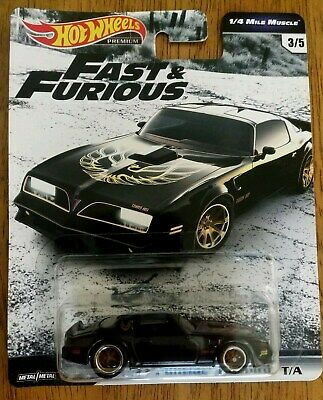 Fast and Furious 1/4 Mile Muscle '77 Pontiac Firebird T/A Hot Wheels Premium '19