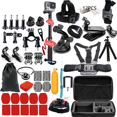 45 in 1 Camera Accessories Tools Kit or Go pro Hero 5 4 3 2 1 Xiaomi Yi 4 k T0S4