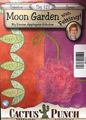 Cactus Punch Moon Garden With Felting Sig 121 By Denise A Schober