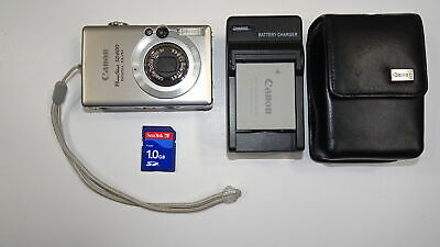 Canon PowerShot Digital ELPH SD600 6.0MP Digital Camera - Silver Tested