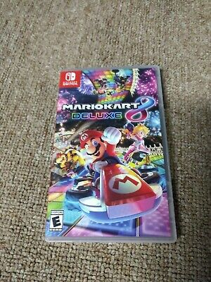Mario Kart 8 Deluxe Nintendo Switch Game With Case