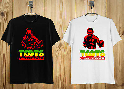 Toots and The Maytals Reggae Logo  Men's T-Shirt Black White S-2XL b