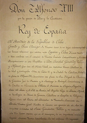 1911 Spain KING ALFONSO XIII Signed Letter to President Mario García Menocal