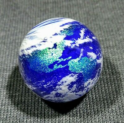 "Geoffrey Beetem ~ Earth ~ 1.57"" ~ Contemporary Handmade Art Glass Marble"