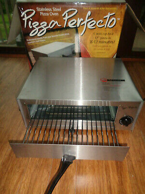 """PIZZA PERFECTO OVEN Stainless Steel Counter Top UP TO 12"""" IN 8-12 MINUTES"""
