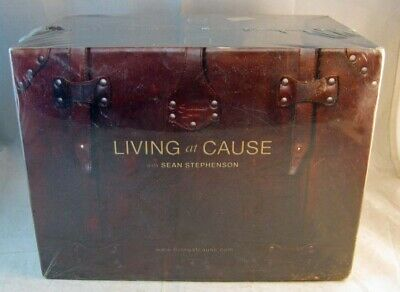 "SEAN STEPHENSON ""Living At Cause"" CD, DVD & Journal/Workbook SEALED! CONFIDENCE!"
