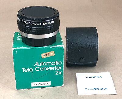 Automatic Tele Converter 2X for Olympus O/OM Mount+Both Caps+Instruction/Box!!!