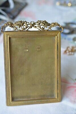 Antique Victorian Ornate Filigree Brass Picture Frame