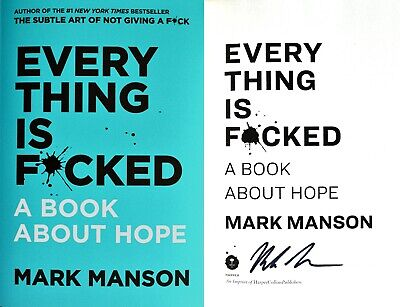 Mark Manson~SIGNED IN PERSON~Everything is F*cked~ 1st/1st HC + PHOTOS!!