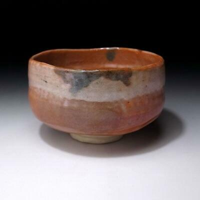 VL5: Vintage Japanese Pottery Tea Bowl of Raku ware, AKA RAKU