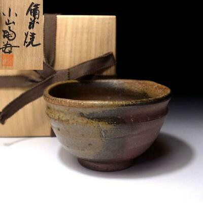XP7: Japanese Pottery Tea bowl, Bizen ware by Famous potter, Tokai Oyama