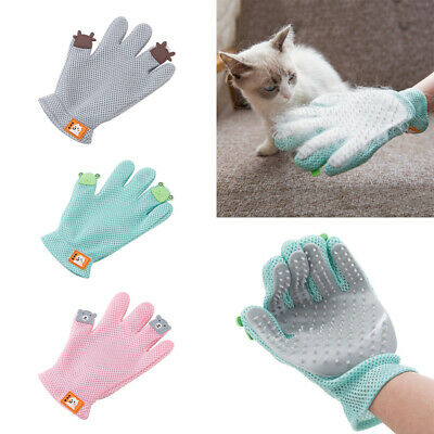 Pet Grooming Glove Deshedding Brush Fur Remover Mitt for Dog Cat For Right Hand