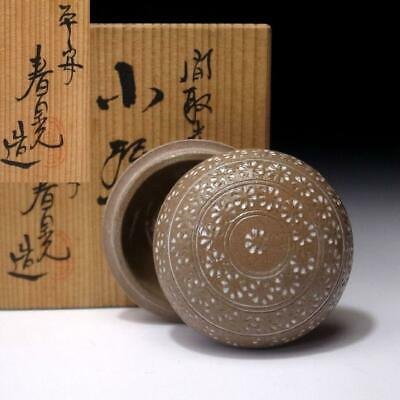 XF9: Japanese Incense Case, Kogo, Kyo Ware by Famous Potter, Shunko Ito